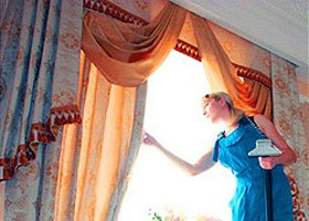 Чистка штор на дому